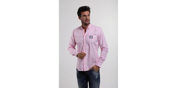 Pánska svetlo ružová bavlnená košeľa Giorgio di Mare