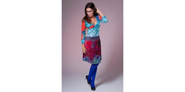 Dámske modro-červené šaty Culito from Spain