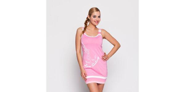 Dámske ružové šaty Giorgio di Mare s potlačou