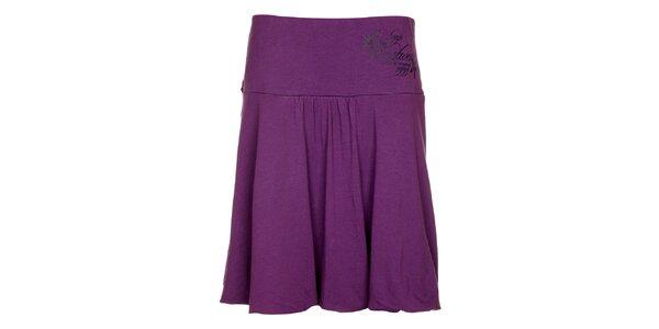 Dámska fialová balonová sukňa Loap