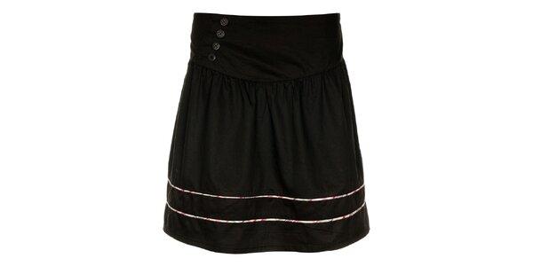 Dámska čierna sukňa Loap s farebnými prúžkami
