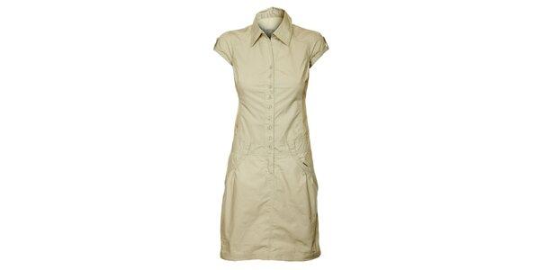 Dámske krémové prepínacie šaty Loap