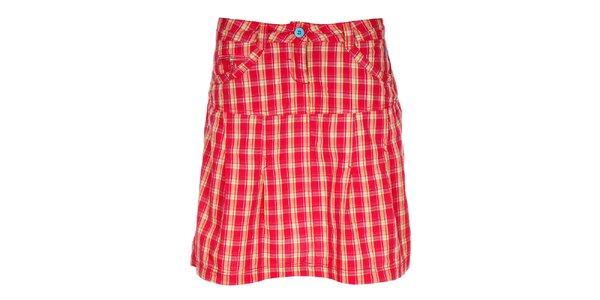 Dámska červená kockovaná sukňa Loap