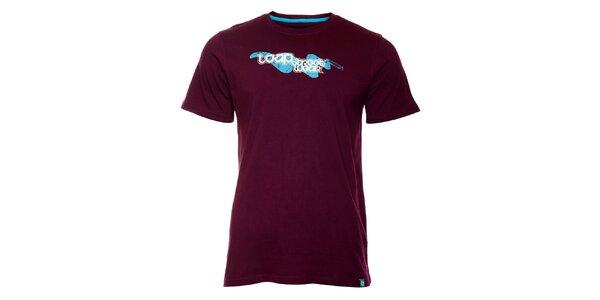 Pánske tmavo fialové tričko Loap s potlačou