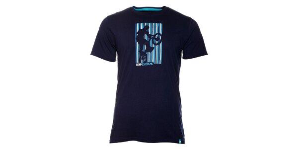 Pánske tmavo modré tričko Loap s potlačou