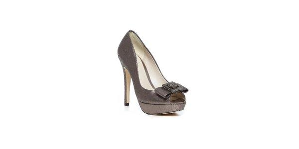 Topánky na vysokom opätku s ľahkým odtieňom červeného zlata Bourne