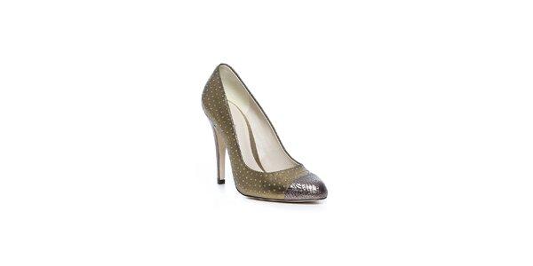 Luxusné topánky v zlatej farbe Bourne
