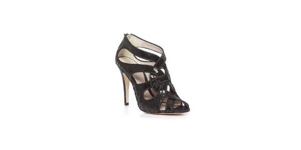Štýlové topánky Bourne v čiernom prevedení