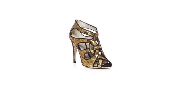 Luxusné topánky Bourne v zlatom prevedení