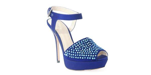Štýlové topánky z dielne Bourn v modrom prevedení