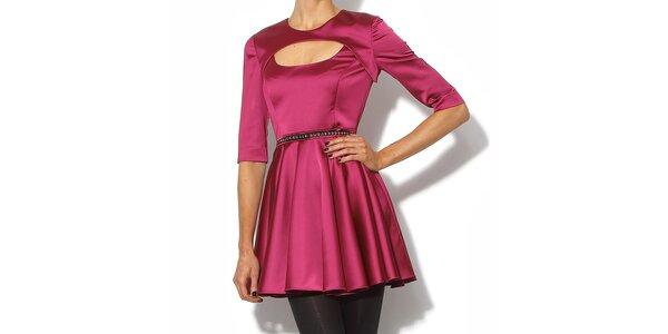 Elegantné šaty v lesklej ružovej farbe Bourne