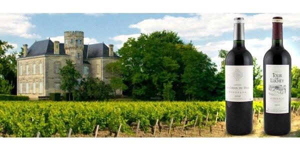 10,99 eur za dve skvostné francúzske vína z oblasti Bordeaux