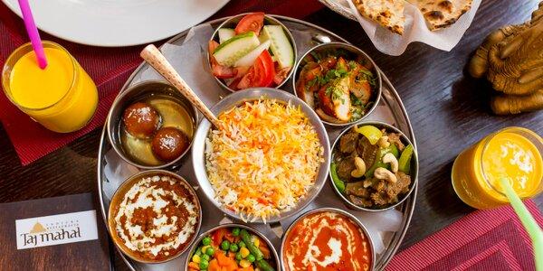 Dva druhy indických jedál pre 2 osoby