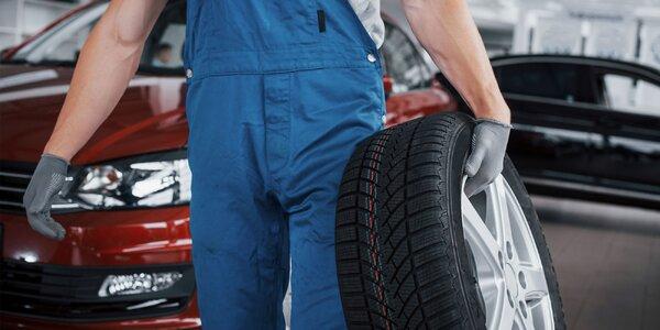 Kompletný pneuservis + kontrola bŕzd a podvozku