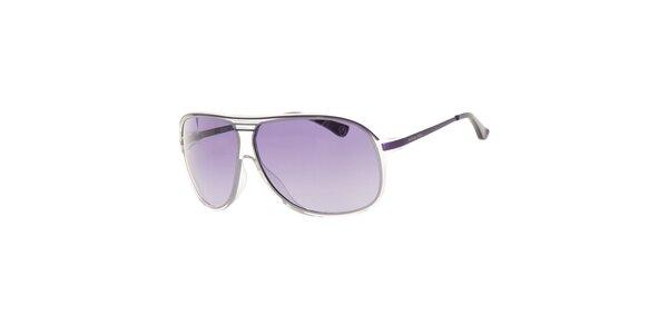 Dámske fialové slnečné okuliare s transparentnými rámčekmi Michael Kors