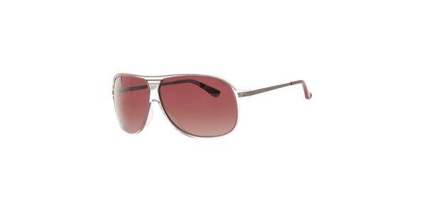 Dámske hnedé slnečné okuliare s transparentnými rámčekmi Michael Kors