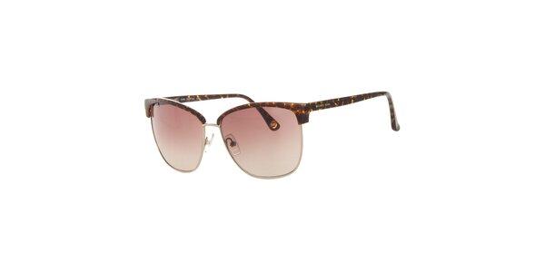 Dámske žihané slnečné okuliare so zlatými rámčekmi Michael Kors