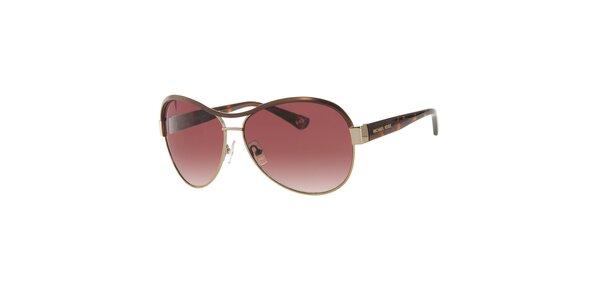Dámske červenohnedé slnečné okuliare Michael Kors