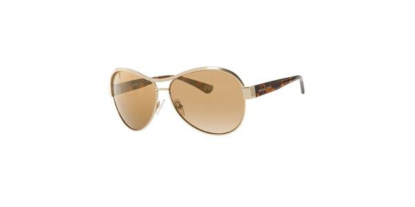 Dámske zlatohnedé slnečné okuliare Michael Kors