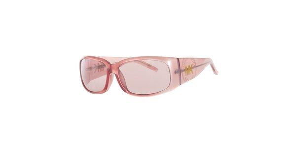 Dámske ružové slnečné okuliare so širokými stranicami Michael Kors