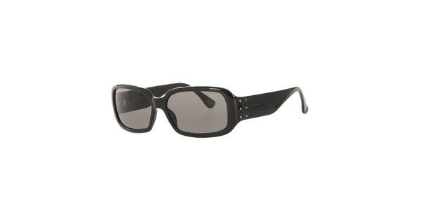 Dámske čierne slnečné okuliare so šedými sklami Michael Kors