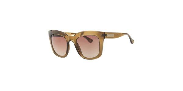 Dámske hnedé transparentné slnečné okuliare Michael Kors