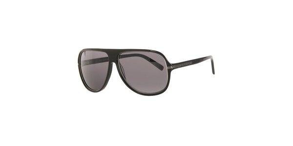 Pánske čierne slnečné okuliare s veľkými hnedými sklami Michael Kors