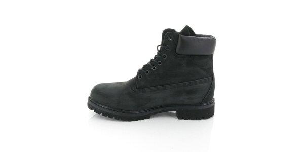 Pánske vysoké čierne topánky Timberland