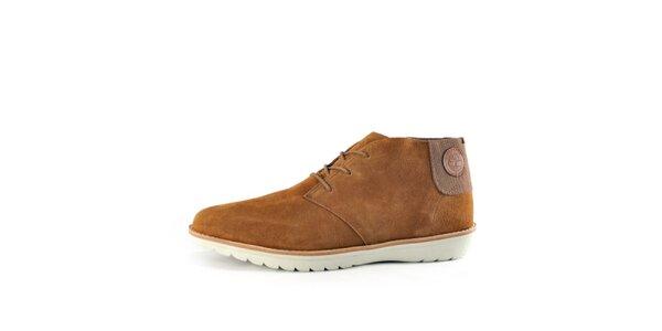 Pánske klasické hnedé semišové topánky Timberland