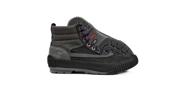 Pánske čiernošedé športové topánky Timberland