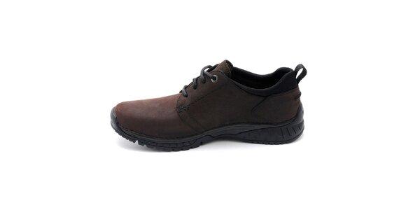 Pánske tmavo hnedé topánky Timberland