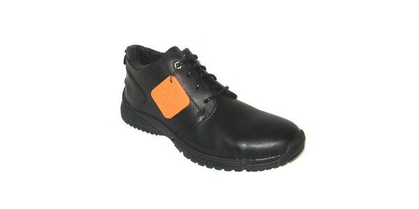 Pánske čierne šnurovacie topánky Timberland