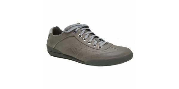 Pánske šedobéžové šnurovacie topánky Timberland