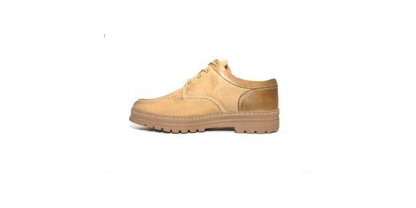 Pánske béžové topánky Timberland