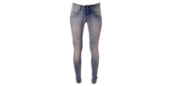 Dámske svetlo modré skinny džínsy Object