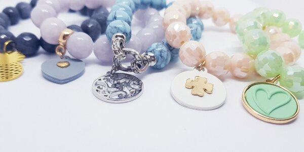 Romantické dámske náramky z korálok