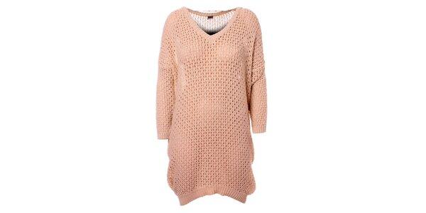 Dámske béžové pletené šaty Object