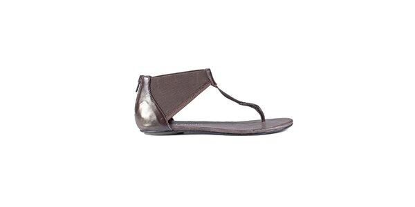 Dámske tmavo hnedé sandále Lise Lindvig