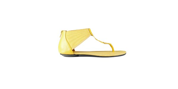 Dámske kanárkovo žlté sandále Lise Lindvig