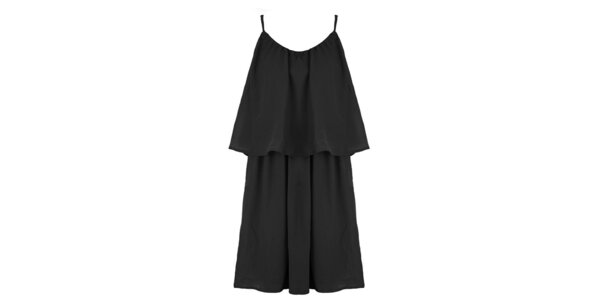 Dámske čierne šaty s voľným živôtikom Mlle Agathe