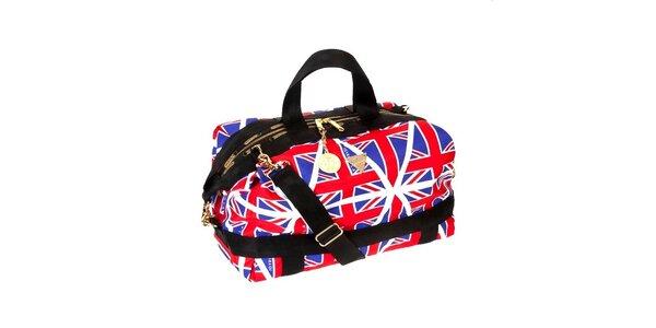 Modro - červená kabelka s motívom anglickej vlajky