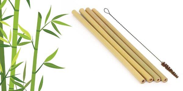 100% prírodné ekologické slamky z bambusu