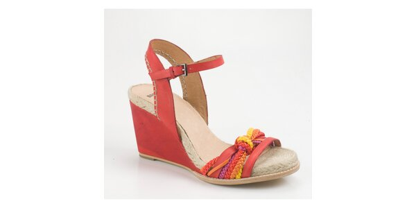Dámske červené sandálky Bronx na vysokom kline
