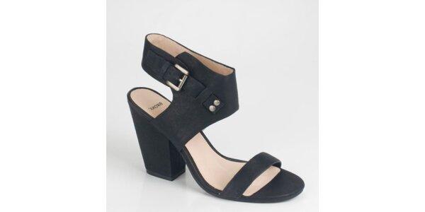 Dámske čierne semišové sandálky Bronx