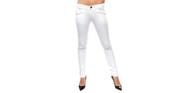Dámske biele úzke nohavice Trois Quatorze