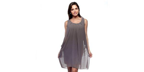 Dámske hnedošedé šaty Trois Quatorze