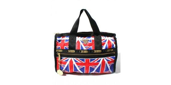 Malá cestovná taška s motívom anglickej vlajky