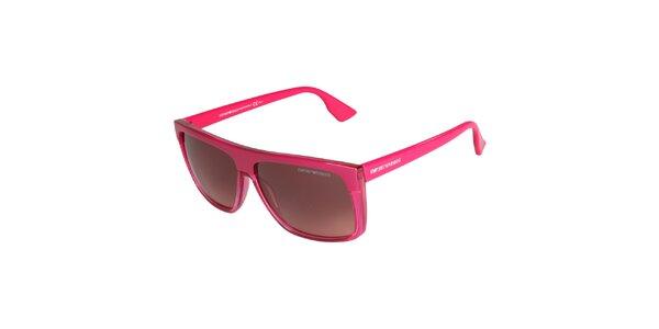Neonovo ružové okuliare Emporio Armani