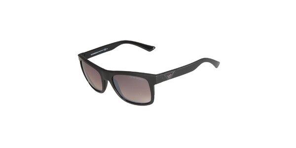 Čierne slnečné okuliare Emporio Armani