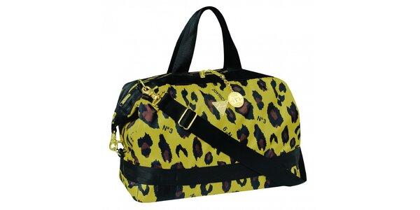 Žlto - hnedá kabelka s leopardím motívom